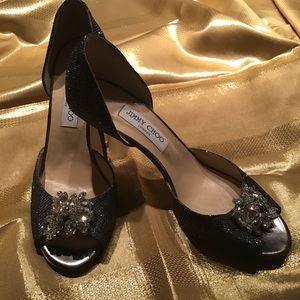 Jimmy Choo glitter high heel sandals 40 1/2